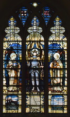 Ralph Michael Mack as St Michael flanked by two angels (Horace Wilkinson, c1920)