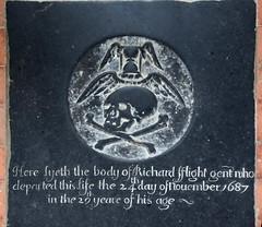 Here lyeth the body of Richard fflight