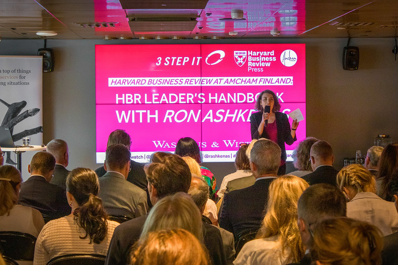 Harvard Business Review at Amcham Finland: HBR Leader's Handbook with Ron Ashkenas