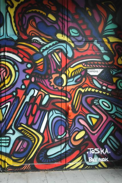 Street art in Luik: Toska | Mooistestedentrips.nl