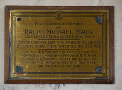 Ralph Michael Mack lost with his ship HMS Tornado by enemy action in the North Sea