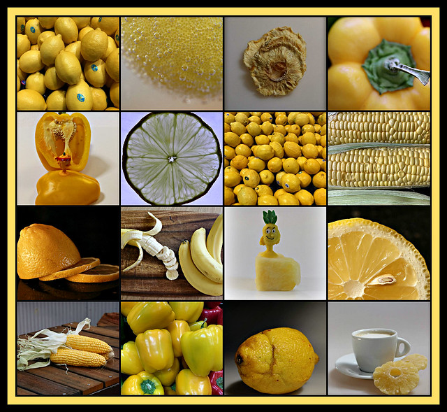 2019 Sydney: Yellow Fruit & Vegetables collage #1