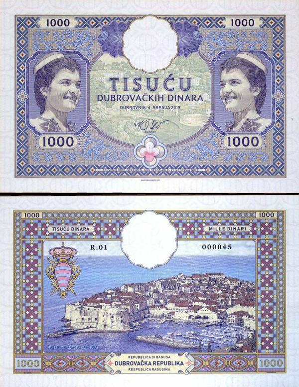 DUBROVNÍK 1000 Dinara 2019