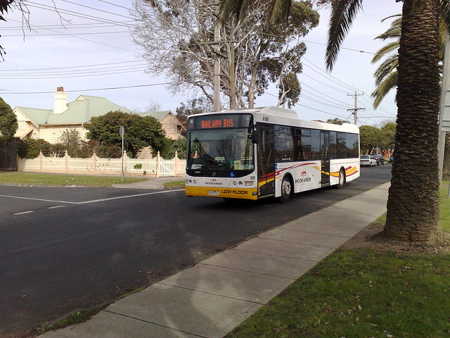 Moorabbin Transit - rail replacement bus, Glenhuntly, August 2009