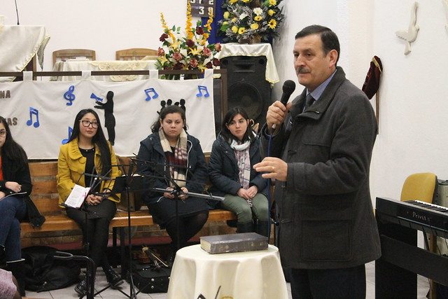 Ensayo Masivo UNIPECH Hualqui en Iglesia de Dios Pentecostal