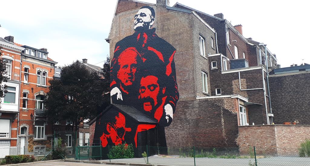 Street art in Luik: Soke la Cabane en Michaël Nicolaï | Mooistestedentrips.nl