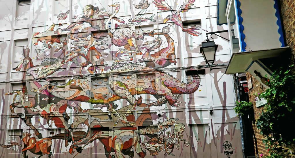 Street art in Luik, Psoman | Mooistestedentrips.nl