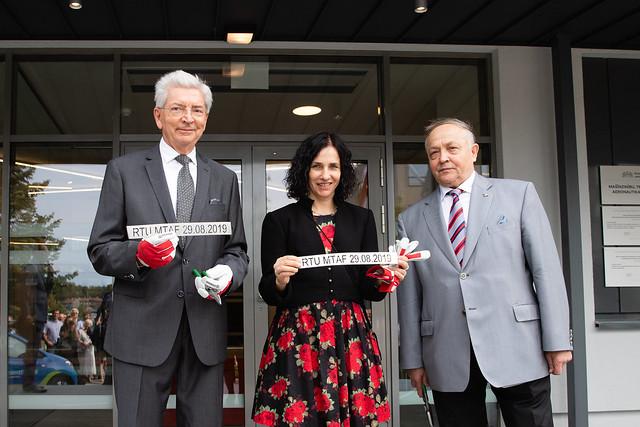 RTU MTAF jaunās ēkas atklāšana