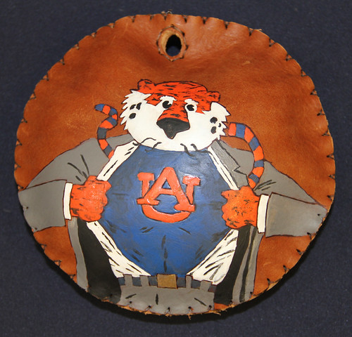 A lure with Aubie painted on it.