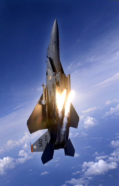 McDonnell Douglas (now Boeing) F-15E-52-MC Strike Eagle (sn 91-0328) from the 391st Expeditionary Fighter Squadron