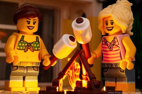 Toasting marshmallows.....