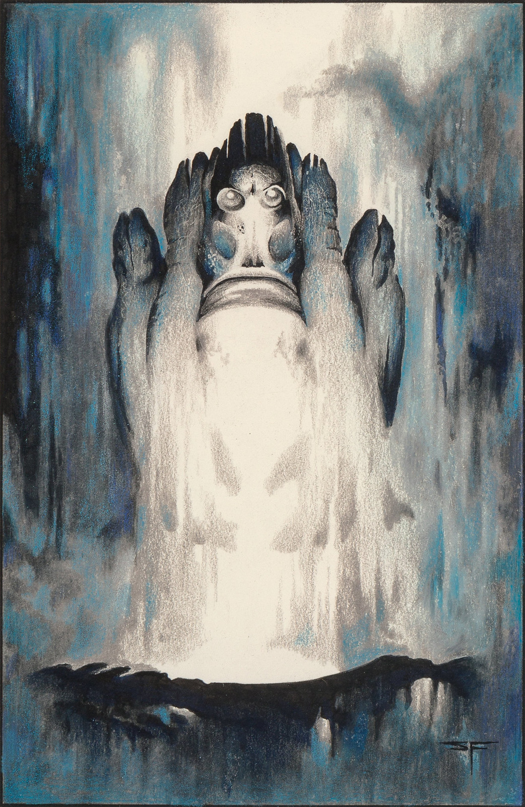 Stephen Fabian - The Dream of X - The North West Watcher, 1977