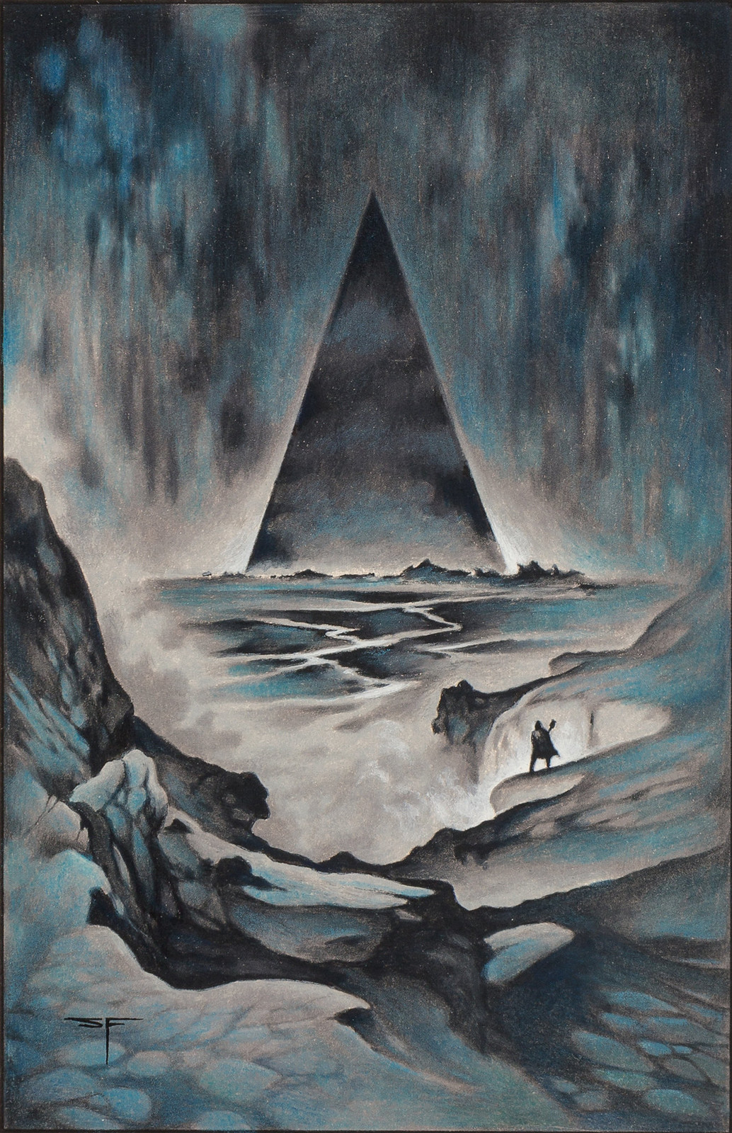 Stephen Fabian - The Dream of X - The Lesser Redoubt, 1977