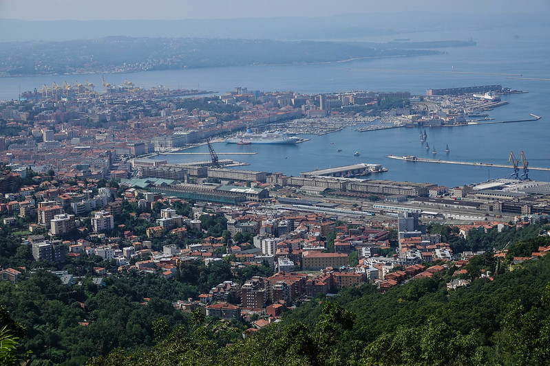 Trieste view from the obelisk
