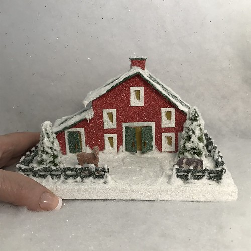 ORIGINAL Red and Green Barn