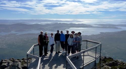 mtwellington tasmania australia hobart platform viewingplatform deck people pinnacle
