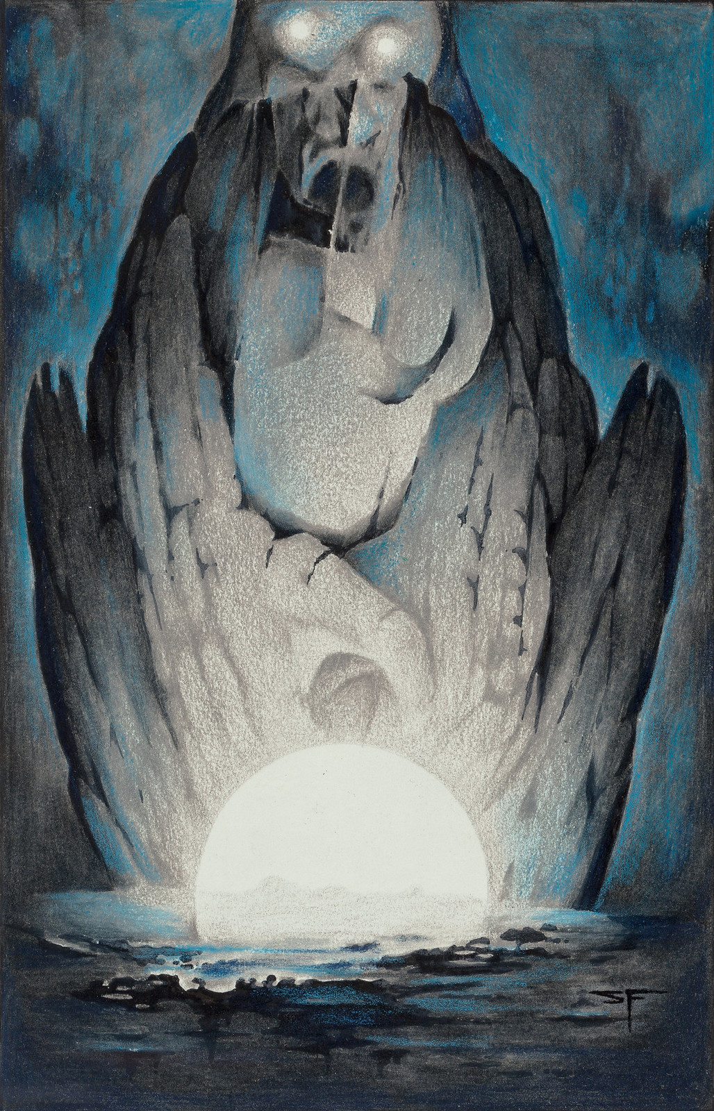 Stephen Fabian - The Dream of X - The Light, 1977