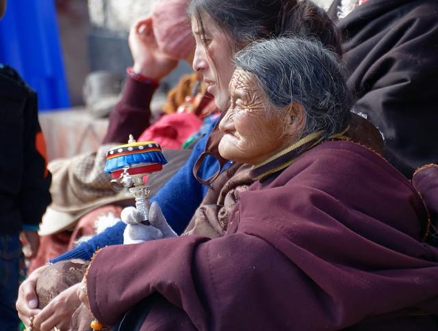 Pilgrim at Dzogchen Gonpa, Tibet 2018