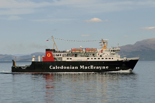 MV Lord of the Isles crossing The Sound of Sleat heading for Mallaig.