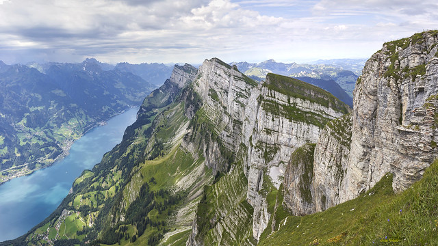 The Churfirsten and the Walensee