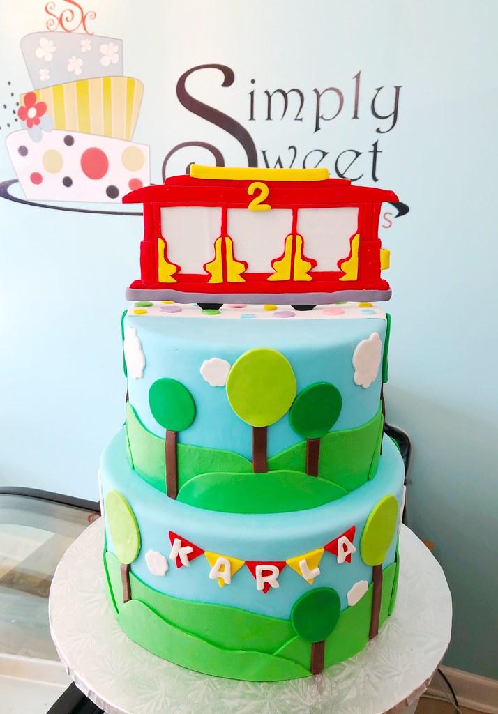 Prime Daniel Tiger Trolley Birthday Cake A Photo On Flickriver Funny Birthday Cards Online Elaedamsfinfo