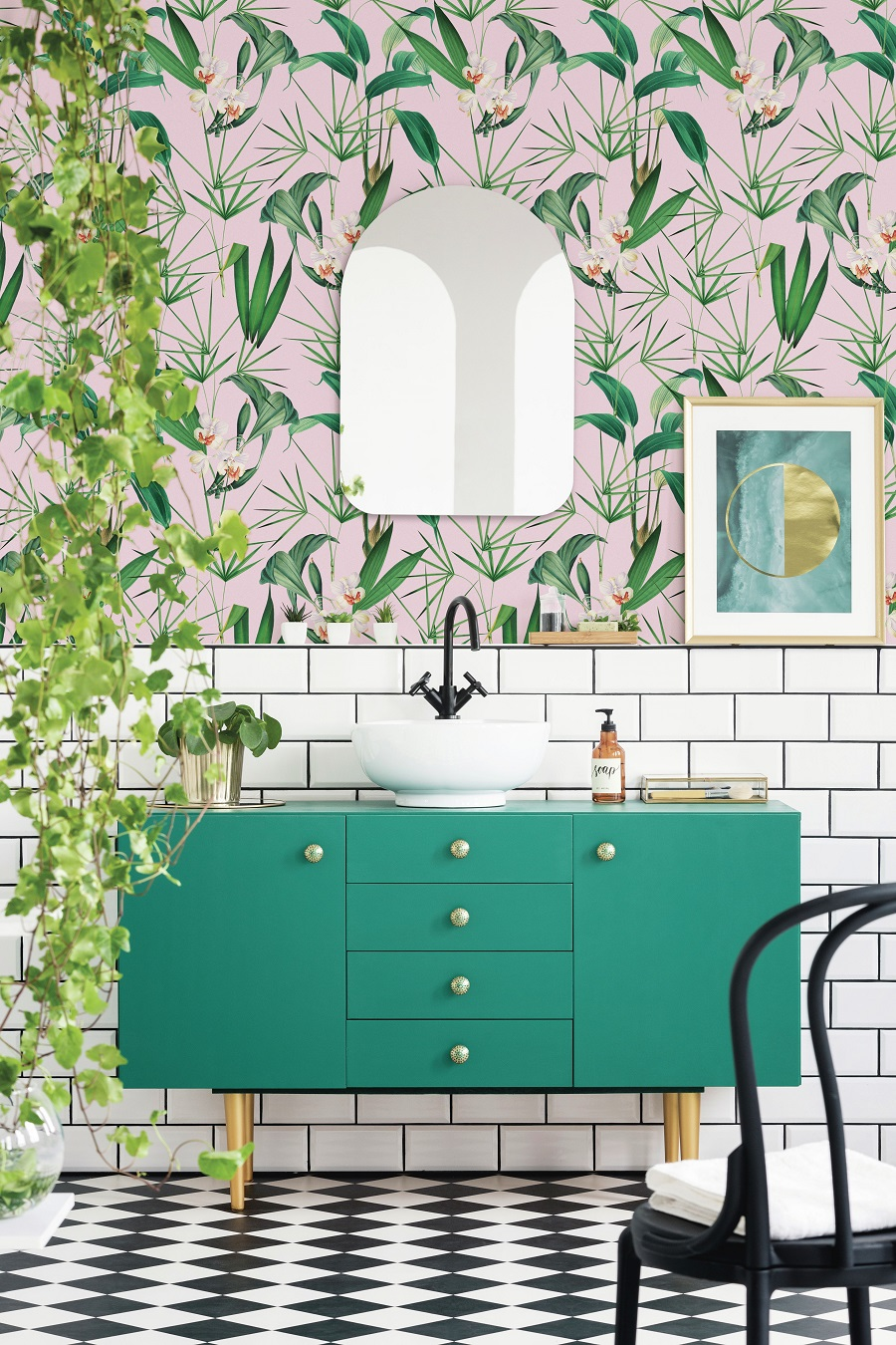 Palm Springs Inspiration Bathroom   Pink and Green Bathroom Inspiration   20 Photos That Will Prove Decorating with Pink and Green is the Next Big Thing
