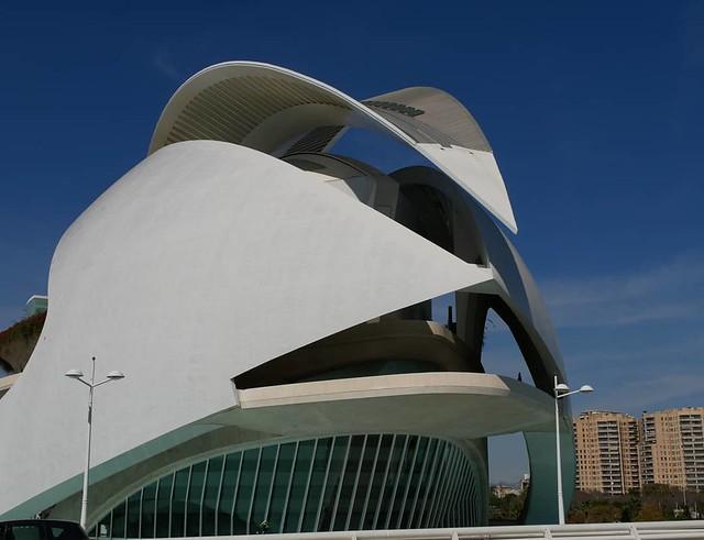 Valencia  Palau de les Arts ( Oper und Musikpalast ) Teil der Ciutat de les Arts i les Ciéncies