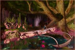 Kona Canoe Poses Bamboo Floral & Tiki Bear