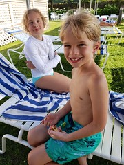 Emma And Everett By The Pool