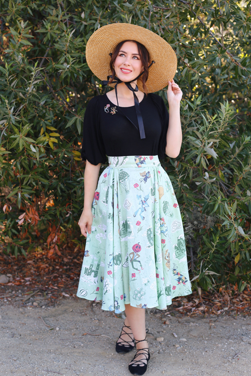 Kitschy Witch Designs Return to Oz Circle Skirt