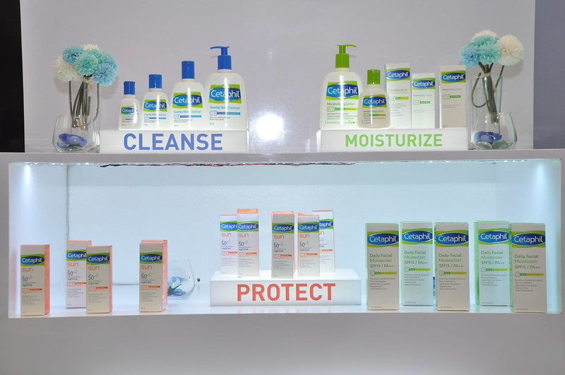 Cleanse and moisturize with Cetaphil
