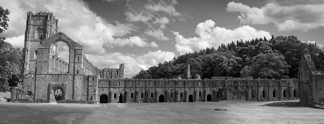 Fountains Abbey, North Yorkshire, UK
