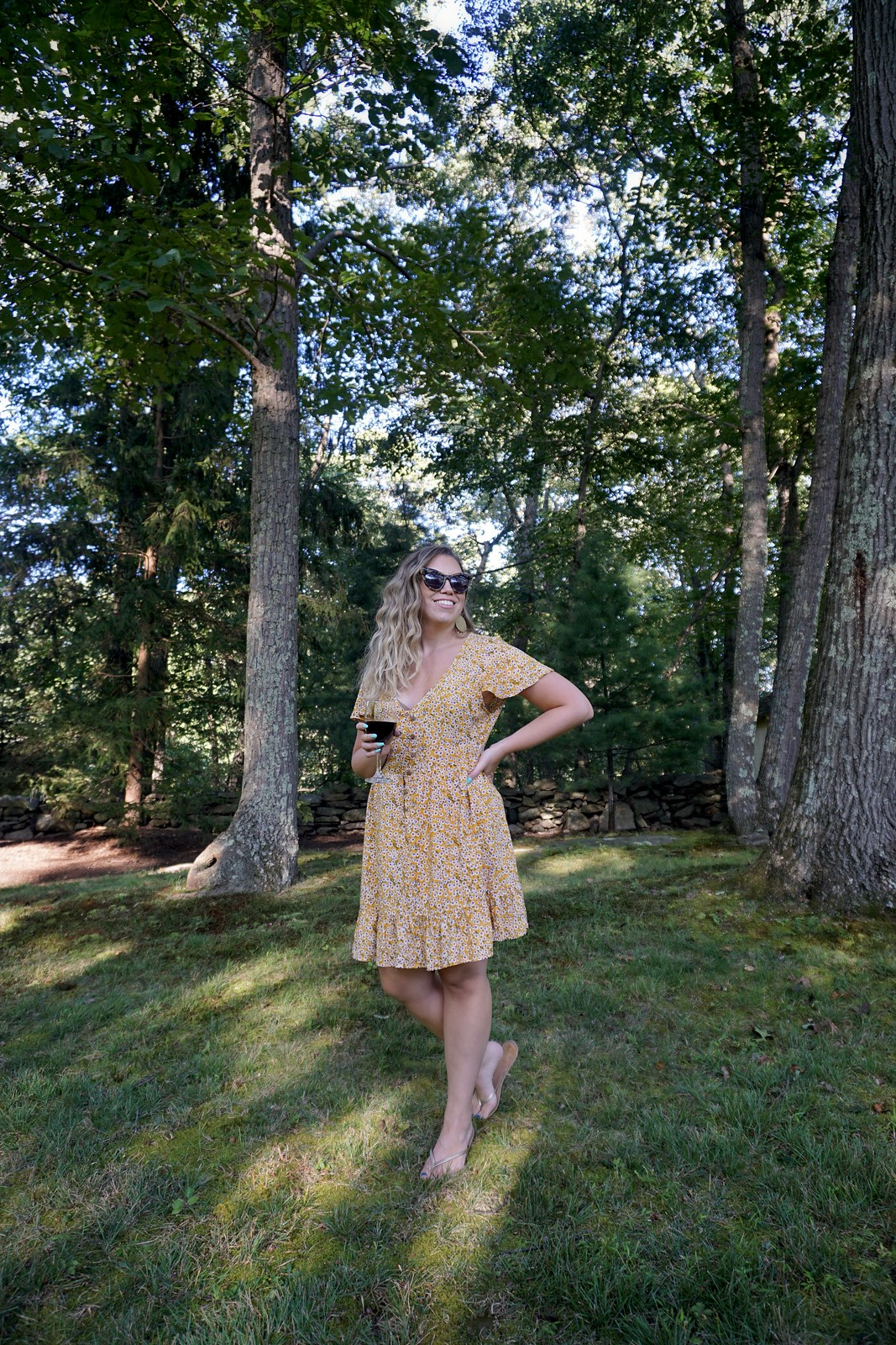 Shein Ditsy Floral Print Dress | Casual Weekend Wear | Labor Day Weekend Outfit | Upstate Life | August 2019 Round Up