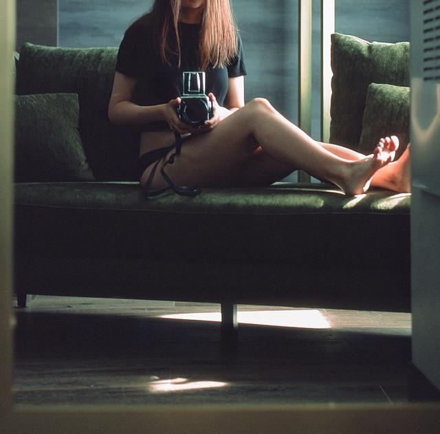 Velvet Green (selfie on film)