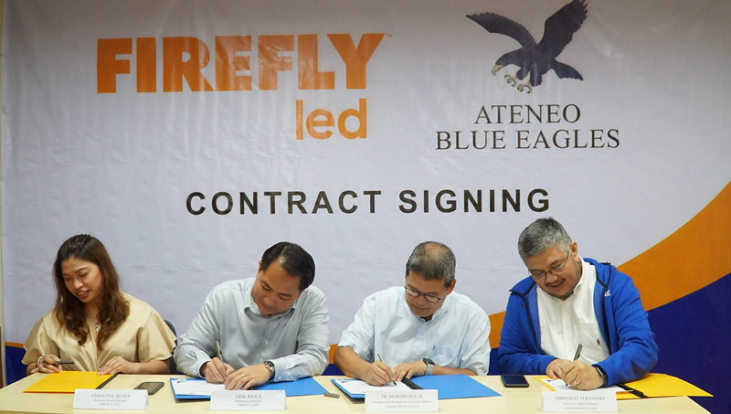 Firefly LED seals the deal with Ateneo's University Athletics' Fr. Nemesio S. Que SJ and Emmanuel T. Fernandez