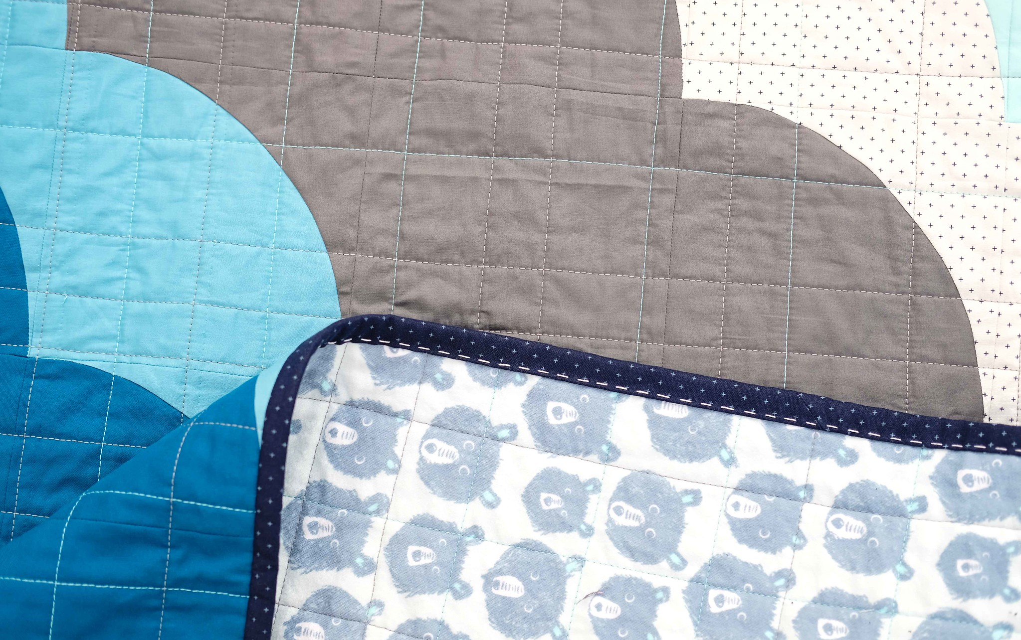 Overcast Baby Quilt - Kitchen Table Quilting