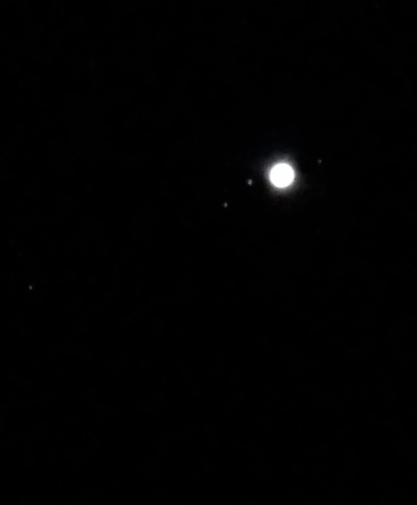 Jupiter and it's 4 largest moons