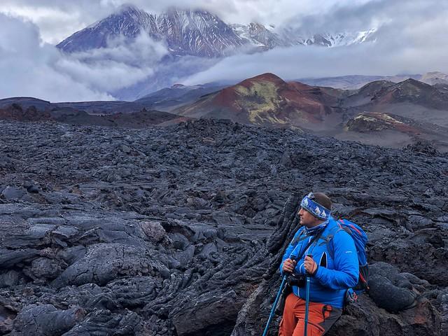 Sele en el campo de lava del Tolbachik (Kamchatka, Rusia)