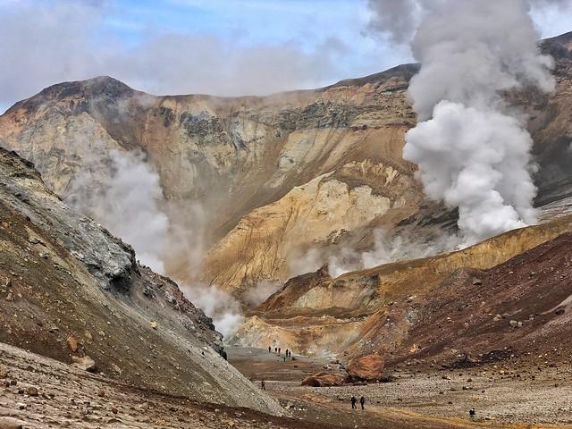 Volcán Mutnovsky (Kamchatka, Rusia)