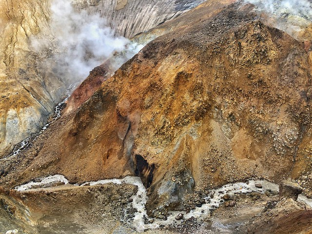 Paisaje del volcán Mutnovsky (Kamchatka, Rusia)