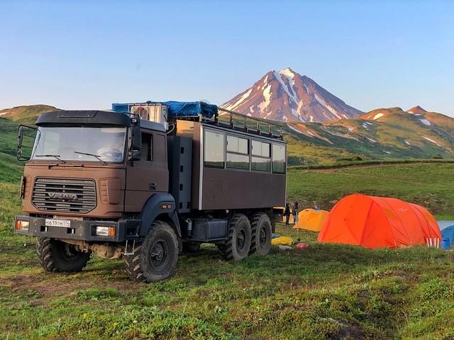 Campamento en Vilyuchinsky (Kamchatka)