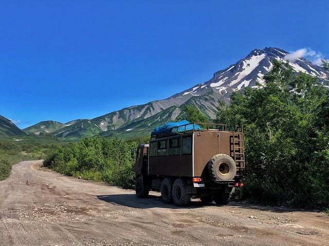 Camión 6x6 con el que viajamos por Kamchatka