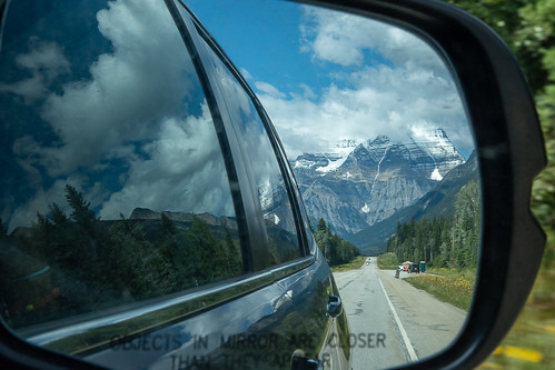Mount Robson in the Rear View