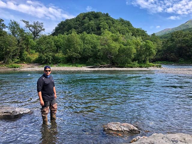 Sele en el río Bystraya de Kamchatka