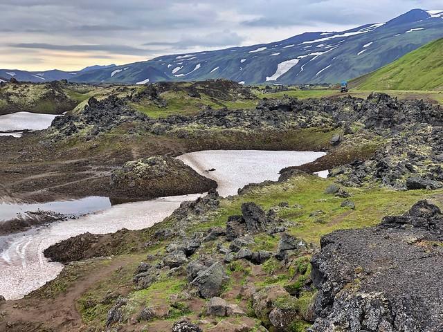 Paisaje volcánico de Kamchatka próximo al Gorely