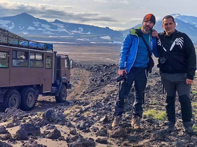 Sele y Roberto en Kamchatka