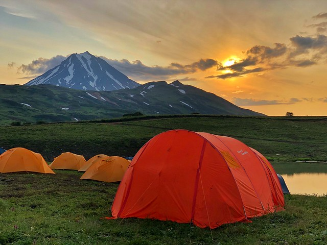 Campamento en Kamchatka