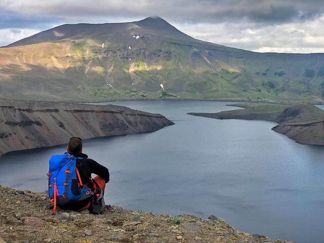 Sele en el cráter del volcán Ksudach (Kamchatka)
