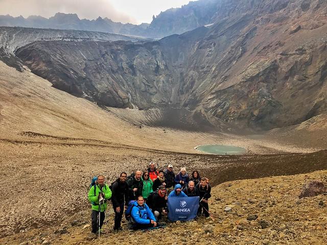 Equipo Kamchatka en el volcán Mutnovsky (Rusia)