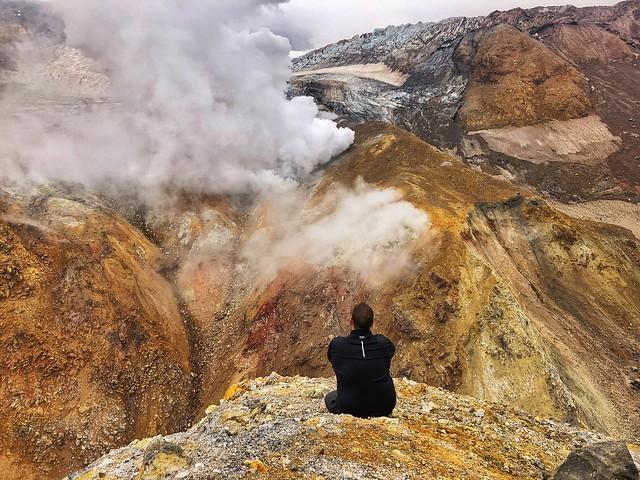 Sele en el volcán Mutnovsky (Kamchatka, Rusia)